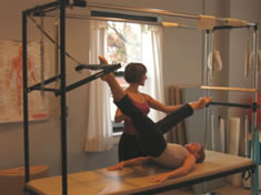 Individual Pilates session at Freedom Road Pilates in Larchmont, NY